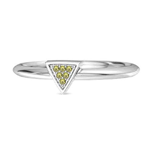 Shine Jewel Multi Elija su Piedra Preciosa 0.12 CT Love & Pride Anillo de Plata de Ley 925 para Mujer (8, Peridoto)
