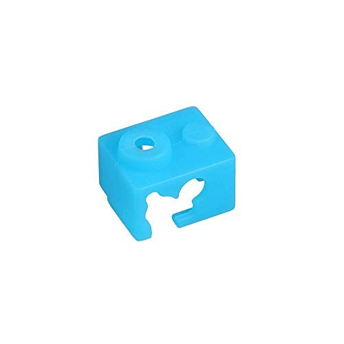 3D Printer Part Silicone Socks Heated Block Case XCR-NV6 Heating Block PT100 Suitable for E3D V6 Hotend Extruder Blue 1pc 3D Printing Accessories (Size : Blue 1pc) (Size : Blue 1pc)