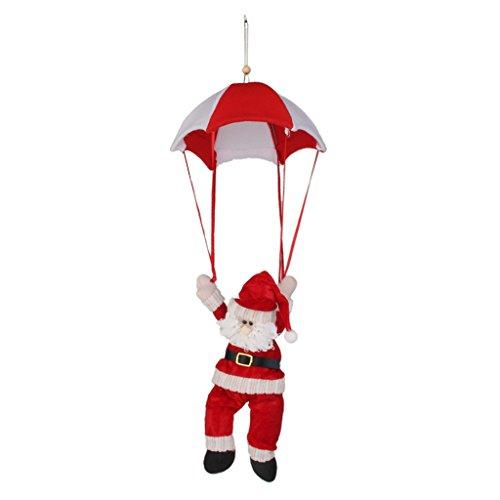 Christmas Hanging Ornament Decoration Santa Parachute