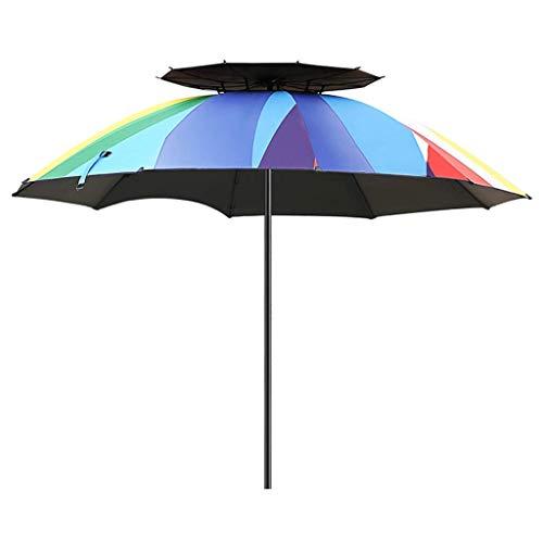 Macro Parasol, sombrilla de Playa al Aire Libre, Paraguas de Pesca, espesas, protección Solar, Sombra de Sol, 10 Huesos Paraguas, Doble Plegable, Encendedor