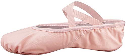 Zapatillas Media Punta de Ballet Suela Partida de Cuero Zapatos de Ballet Tallas Rosa 27