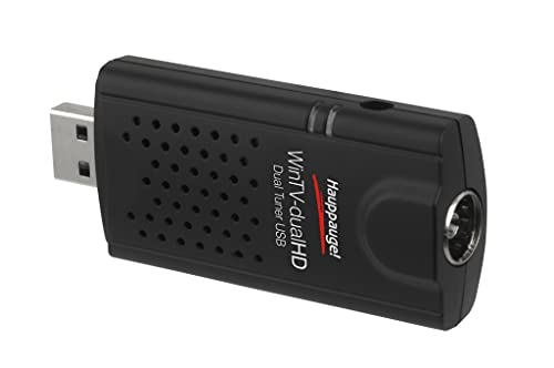 Hauppauge Win TV-DualHD TV Tuner Digitale per la TV, USB 2.0, Nero/Antracite
