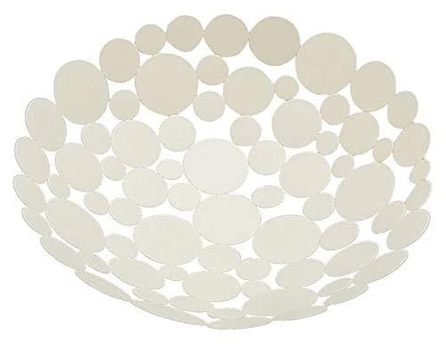 Fruteros Cesta de Frutas Fruta, Cesta de Frutas de Gran Capacidad for Poly Rattan Redonda Cesta de Frutas de Frutas de Fruta Redonda Caja de Almacenamiento Caja de Frutas (Color : White)