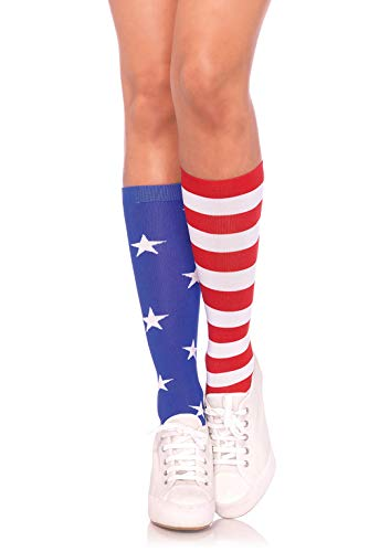 Leg Avenue Damen Stars and Stripes Strumpfhose, mehrfarbig, One Size