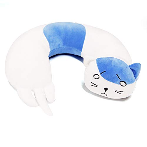xHxttL Himouto! Umaru-Chan Almohada de Felpa Anime Hamsters Peluches de Peluche Muñecas, Himouto Umaru Chan Blue Cat Pillow Cojines en Forma de U, Umaru Cat Cosplay Throw Pillows