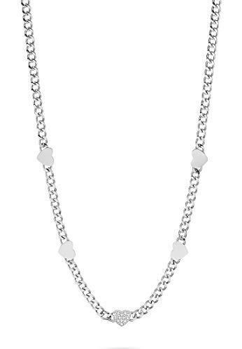 GMK Damen-Kette Edelstahl 13 Zirkonia One Size Silber 32012878