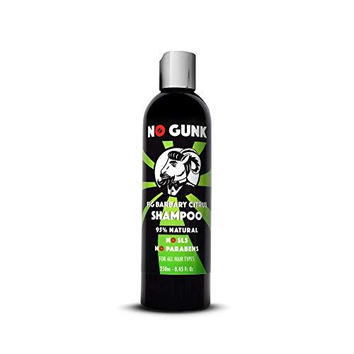 NO GUNK Shampooing Naturel Bio Pour Homme - Sans Sulfates / SLS, Sans Silicone, Sans Paraben - Pour Tous Types de Cheveux - Fig Barbary Shampoo (Citrus, 250ml)