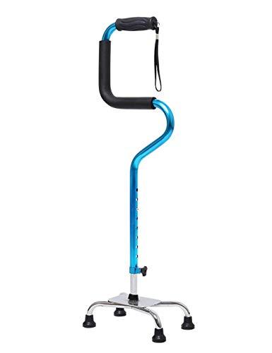 L.TSN Canne de Marche pour personnes âgées en Aluminium Homme/Femme bâton de Marche réglable marcheur multifonctionnel A + (Couleur: Bleu)