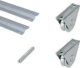 Metalideal Doelset V, 2 rails, V-riem, 1 been, 2 wielen of wielen