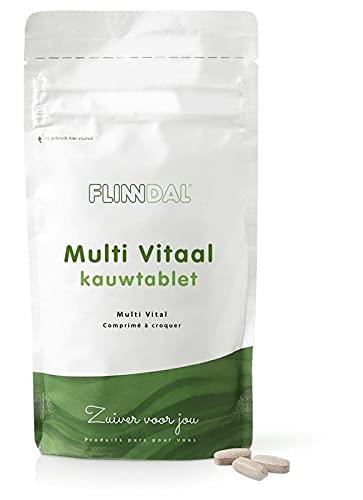 Flinndal - Multi Vitaal kauwtablet - 90 Kauwtabletten - Multivitamine kauwtablet voor een verhoogde behoefte