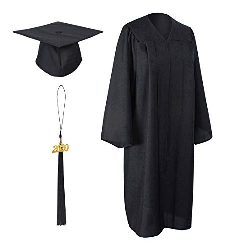 GraduationForYou Matte Graduation Gown Cap Tassel with 2020 Year Charm