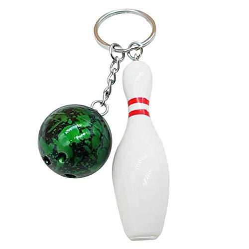 LAIGESHADIAO Schlüsselanhänger Bowlingkugel Anhänger Schlüsselbund Tasche Auto Hängende Verzierung Schlüsselanhänger Halter Schlüsselanhänger Zubehör Schlüsselanhänger Anhänger Hängende Dekoration
