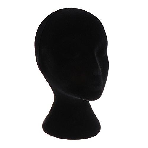 Maniquí de Espuma de Cabeza Femenino Expositores para Decoración de Tiendas Commercial Negro