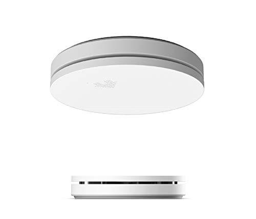 UNITEC 10 Jahres Design Rauchwarnmelder | drahtlose Aufputzmontage | Ultraflach | Nachtmodus | Selbsttestfunktion | inkl. Batterie | DIN EN 14604