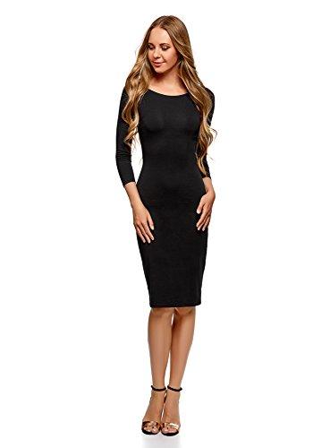 oodji Ultra Mujer Vestido con Escote Barco (Pack de 2), Negro, ES 34 / XXS
