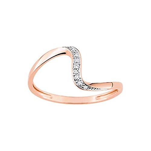 LuckyOneBijoux.com Anillo Dubai – Diamantes de oro rosa