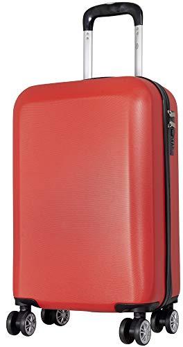 Trendyshop365 ABS Hand Luggage Suitcase Lock 56 cm 38 litres 4 Wheels Red Red red Handgepäck - Größe S