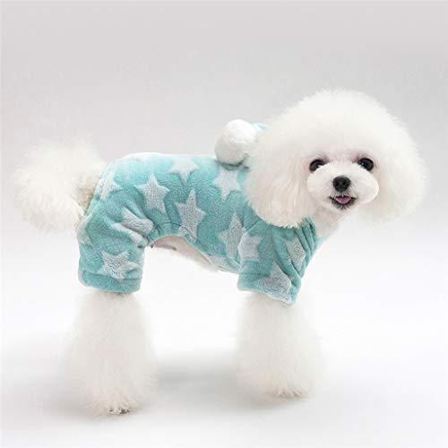 XZJJZ Ropa para Perros y Mascotas, Abrigo de Invierno, Ropa de Abrigo cálida, Ropa para Disfraz de Perro Estrella Espesa, Chaqueta, Productos para Gatos, Ropa para Cachorros