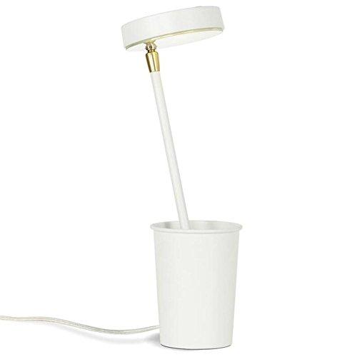 LED Lampe de Bureau Moderne Lampe de Chevet Creative Stylo Titulaire Design Métal Cuisson Peinture Placage Lampe de Table Contrôle Tactile Pour Bureau Accueil Lecture Étude Travail