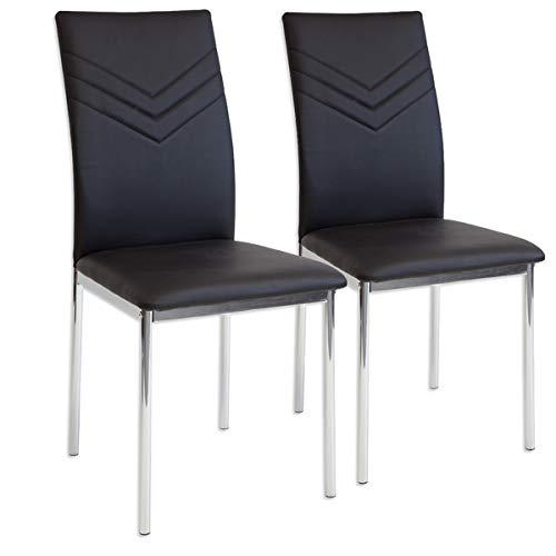 Albatros 2921 Verona 2 x Esszimmerstühle schwarz