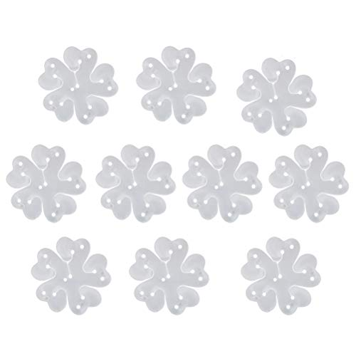 TOYMYTOY Clips de globo plástico 10pcs 11 en 1 con la forma de la flor para la decoración del banquete de boda