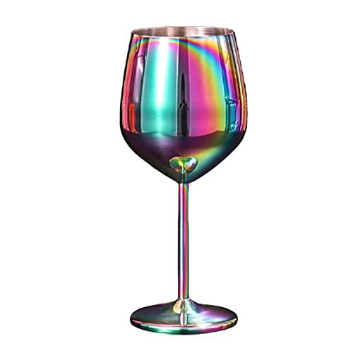 Ganghuo - Calice da vino rosso in acciaio INOX, resistente alle cadute, 500 ml, colore: rame