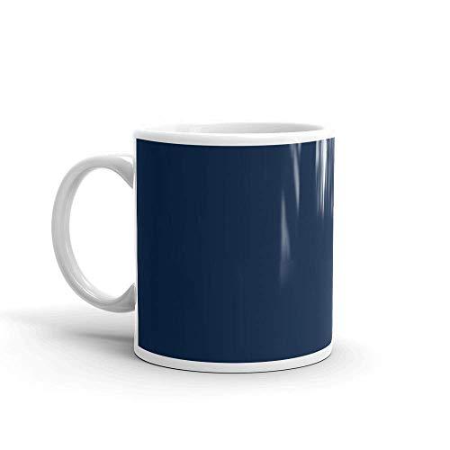 Lsjuee Mago de Sal Blanca Pura. Tazas de café de cerámica de 11 oz con asa en forma de C, cómodas de sostener. Tazas de 11 oz hacen el regalo perfecto