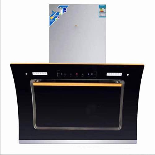 BBZ Campana extractora con Acceso Directo, Limpieza automática de Doble Motor, Montaje en Pared, succión Lateral, Campana extractora de Cocina doméstica, Campana extractora táctil