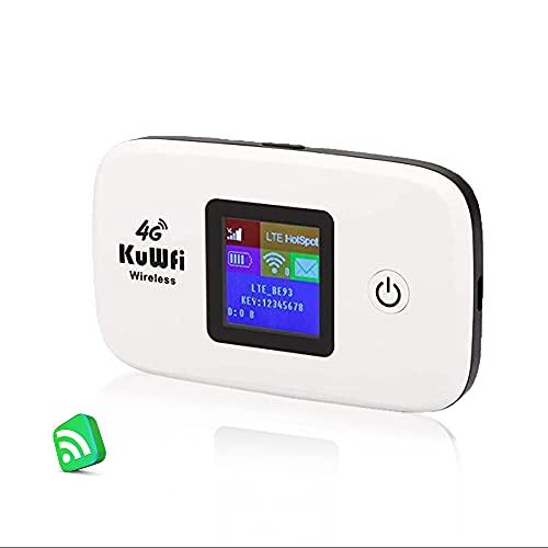 Mobile Wi-Fi, KuWFi Router 4G LTE con slot per schede SIM Lavorare con SIM Card Italia Facile da trasportare utilizzare Outdoor aggiornamento B1 / B3 / B7 / B8 / B20