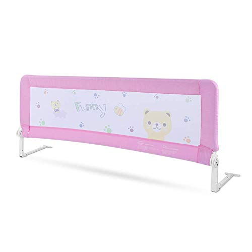 Letto Rails Guardavia del letto per bambini Barriera per Letto da Bambini portatile Barriera di sicurezza pieghevole Sponda di Sicurezza per Bambini Paracolpi anti Caduta per Bambini Rosa1.5cm