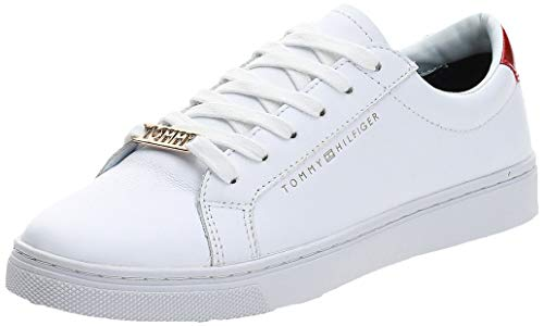 Tommy Hilfiger Essential Sneaker, Zapatillas Mujer, Blanco (RWB 020), 39 EU