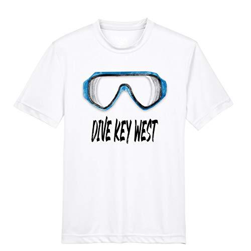 Makoroni - Dive Key WEST Scuba Diving Des#2 Men's Male Short Sleeve T Shirt White