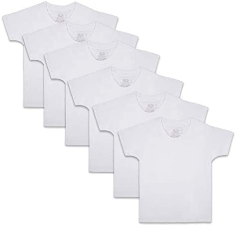 Fruit of the Loom Boys Cotton White T Shirt Toddler 6 Pack White 4T 5T product image