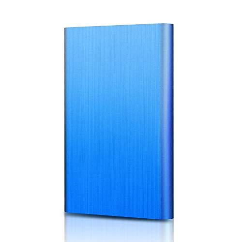Externe Festplatte 1tb,USB 3.0 Tragbare Festplatte extern für PC, Mac, Desktop, Laptop, MacBook, Chromebook (1tb, Blau)