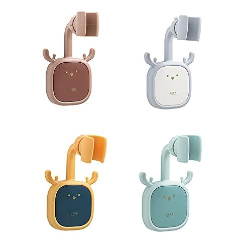 MARMODAY - Supporto per soffione doccia regolabile a 360 gradi, regolabile, 4 pezzi, blu, marrone, grigio, verde