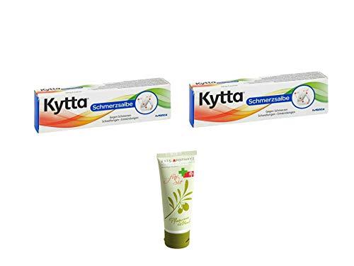 Sparset Schmerz - Doppelpack Kytta Schmerzsalbe 50g Inkl. GRATIS Rats-Apotheke Olivenöl Pflegecreme