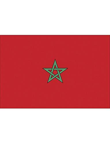 "TrendClub100® Fahne Flagge ""Marokko Morocco MA"" - 150x90 cm / 90x150cm"