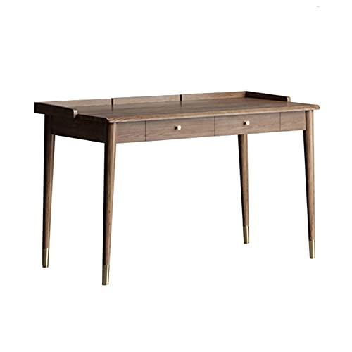 Mesa de Ordenador Muebles de estudio de lujo ligero ORDENADOR PERSONAL Mesa de computadora portátil simple escritorio de escritorio de escritorio de madera mesa de trabajo de trabajo de madera con 2 c