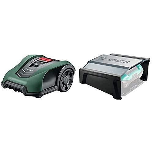 Bosch 06008B0100 Indego S+ 350 Robot Rasaerba, con Funzione App, Larghezza di Taglio 19 cm, per Prati fino a 350 m² di Superficie & Home and Garden 06008B0500 Indego 350/400 Garage per Robot Rasaerba
