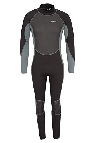 Mountain Warehouse Neoprenanzug für Herren - Körper: 2.5mm, Enge Passform, Neoprenanzug mit flachen Nähten, Verstellbarer Verschluss, Reißverschluss - Für Surfen Kohle Large/X-Large