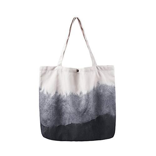 DALIBAI Bolsa de Asas de Lona Lavable Market Shopper Bags Bolsos de Hombro Casual Bolso de Hombro Reutilizable Total de Bolsas para el Trabajo Playa de Almuerzo Viajes y Compras
