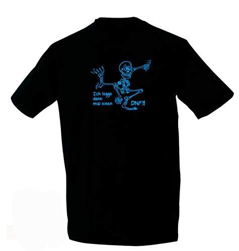 Kreativ-Shop! Geocaching-T-Shirt Sklett & DNF | Frontdruck | Größe: 3XL | Folienfarbe: blau