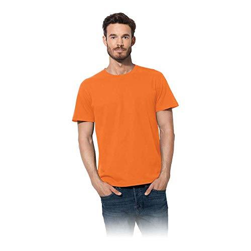 Stedman Apparel Classic/ST2000 T-Shirt, Orange, Large Uomo