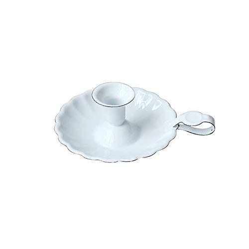 HARLIANGXY Emaille Retro kerzenständer, Abendessen bei Kerzenlicht Dekoration,Esstisch/Bar Tischdekoration Kerzenhalter