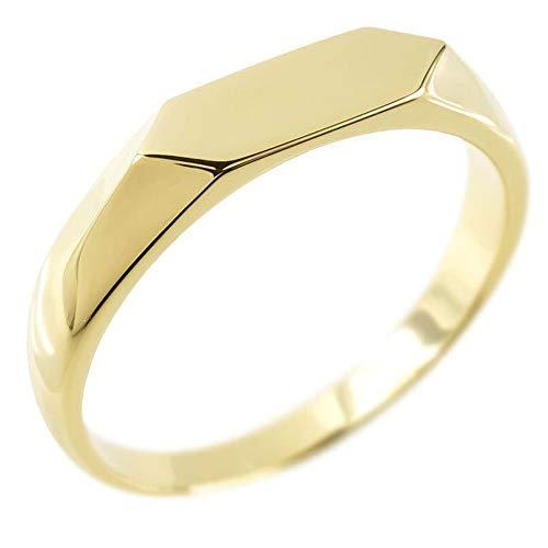 [アトラス]Atrus リング レディース 婚約指輪 18金 イエローゴールドk18 地金 印台 指輪 エンゲージリング トレジャーハンター 28号