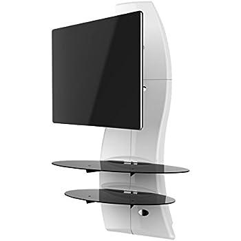 Meliconi Ghost Design 2000 DR - Mueble de Pared orientable con 2 ménsulas para Pantallas Plasma/LCD de 32