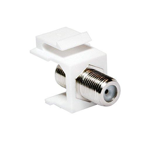 Faconet® Keystone Verbinder F-Buchse > F-Buchse, 75 Ohm SAT Antennen Anschluss zum Einbau in Keystone Pannels oder Anschlussdosen. (2 Stück)