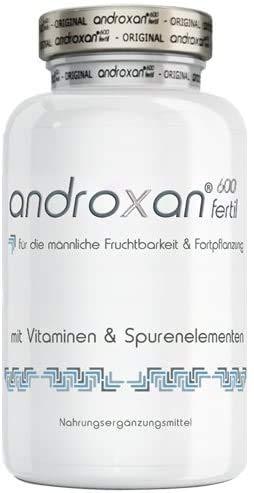 Androxan 600 fertil für Männer | Tribulus Terrestris, Selen, L-Arginin, Muira puama & Zink | 120 Kapseln