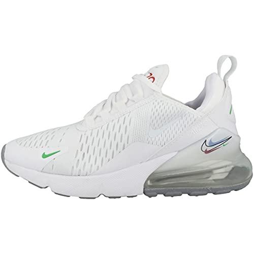 Nike Zapatillas unisex para niños Low Air Max 270, Blanco Light Green Spark Aluminum Black, 38 EU
