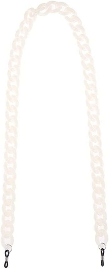 YFQHDD Women Sunglasses Chain Acrylic Reading Glasses Chains Hanging Neck Cords Holder Eyeglasses Strap Lanyards (Color : E)